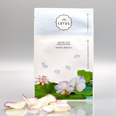 The Pure Lotus - 2 Step Lotus Leaf Mask Soothing & Brightening