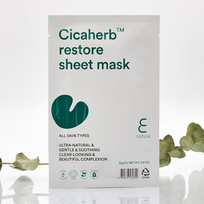 ENATURE Cicaherb restore sheet mask